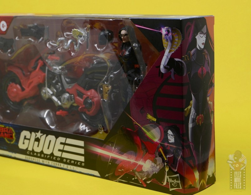 g.i. joe classified series baroness and cobra coil figure review - package baroness drawing