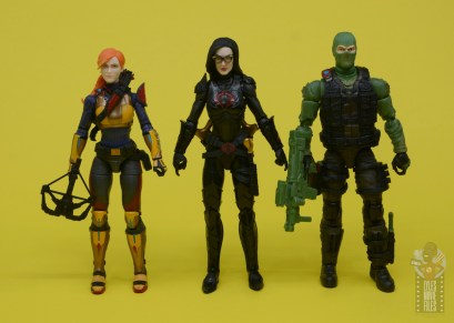 g.i. joe classified series baroness and cobra coil figure review -scale with scarlett and beach head