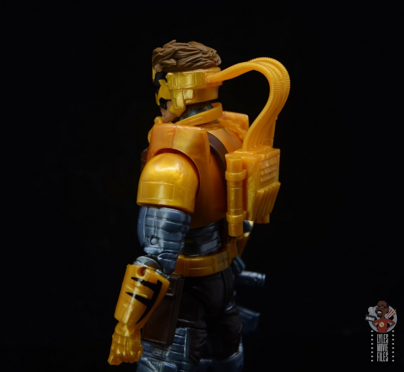 marvel legends maverick figure review -helmet backpack detail