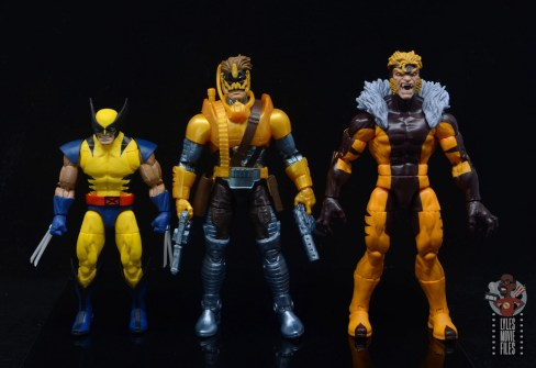 marvel legends maverick figure review - scale with wolverine and sabretooth