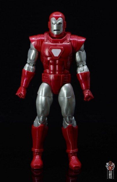 marvel legends silver centurion iron man figure review -front