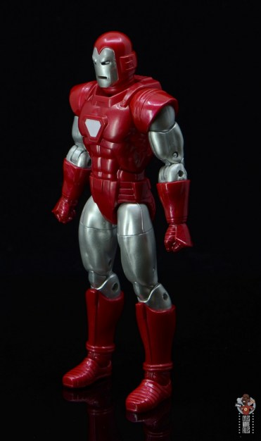 marvel legends silver centurion iron man figure review - left side