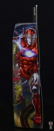marvel legends silver centurion iron man figure review - package side