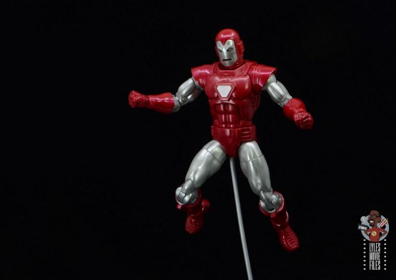 marvel legends silver centurion iron man figure review - readying omni-blast