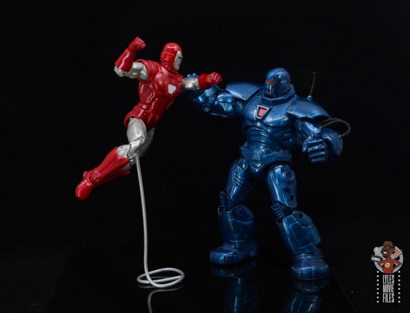 marvel legends silver centurion iron man figure review - vs iron monger