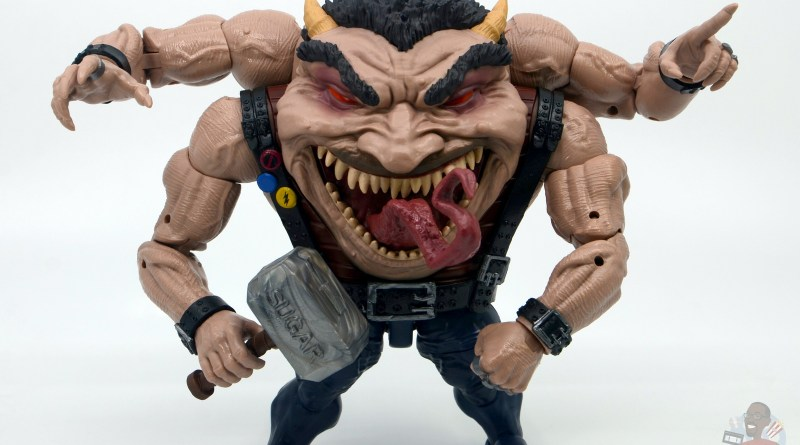 marvel legends sugar man build-a-figure review - front flexing
