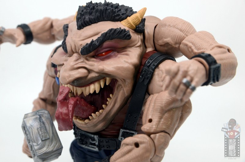 marvel legends sugar man build-a-figure review -left side detail