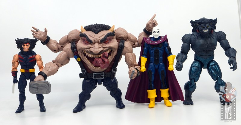 marvel legends sugar man build-a-figure review - scale with weapon x, morph and dark beast