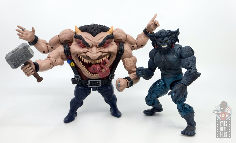 marvel legends sugar man build-a-figure review -with dark beast