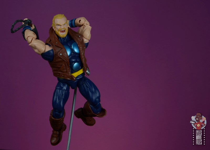 marvel legends thunderstrike figure review -about to smash with mace
