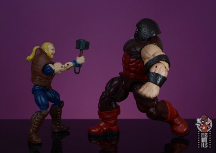 marvel legends thunderstrike figure review - face off with juggernaut