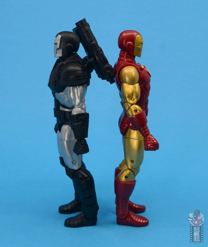 marvel legends war machine figure review - back to back with iron man