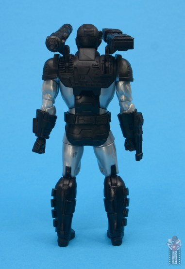 marvel legends war machine figure review - rear