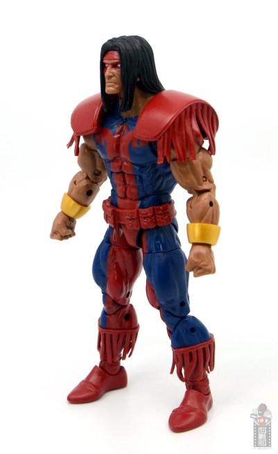 marvel legends warpath figure review - left side