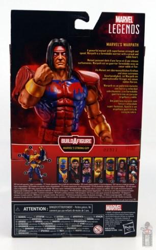 marvel legends warpath figure review - package rear