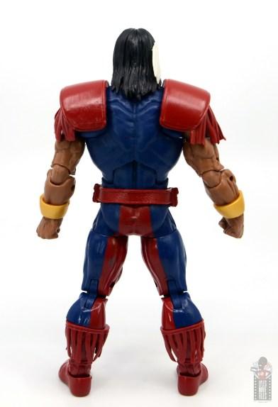 marvel legends warpath figure review - rear