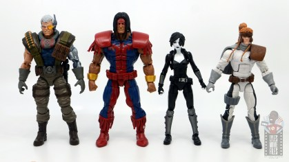 marvel legends warpath figure review - scale with cable, domino and shatterstar