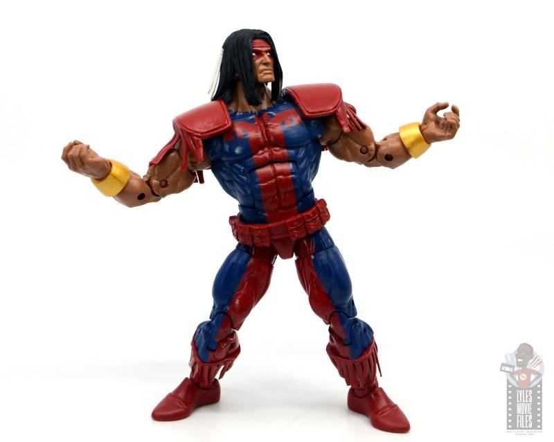 marvel legends warpath figure review - wide stance