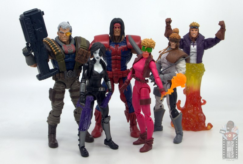 marvel legends warpath figure review - with cable, domino, boom boom, shatterstar and cannonball