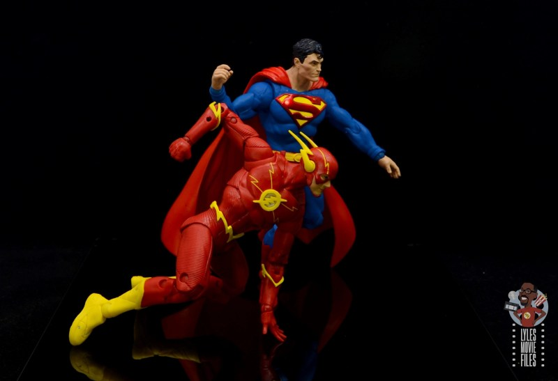 mcfarlane toys dc multiverse the flash figure review - about to race superman