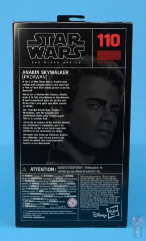 star wars the black series anakin skywalker padawan figure review -package rear