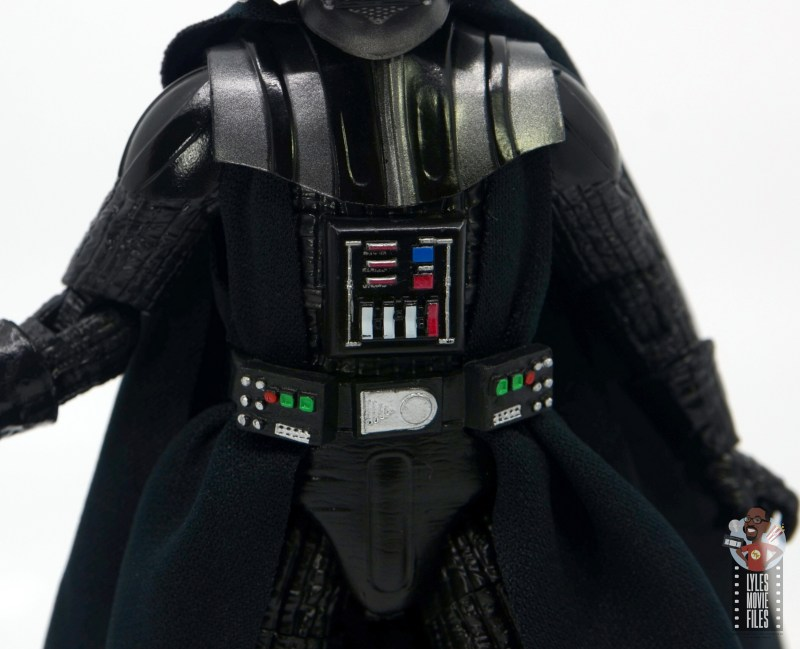 star wars the black series darth vader figure review - chest panel detail