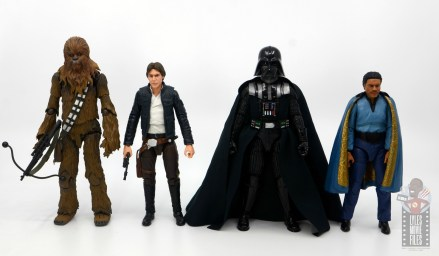 star wars the black series darth vader figure review - scale with chewbacca, han solo, darth vader and lando