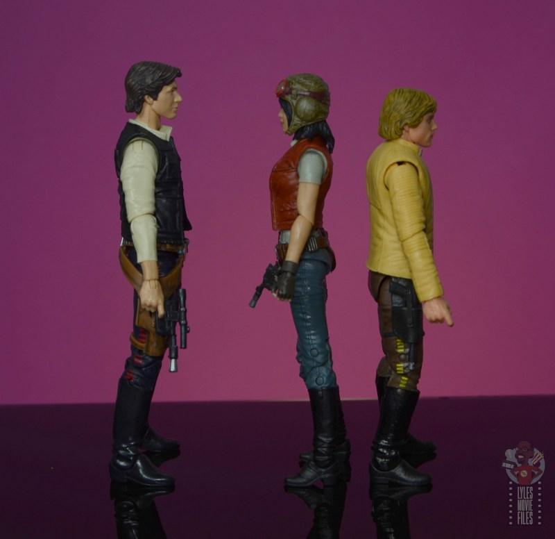 star wars the black series doctor aphra figure review -facing han solo and luke skywalker
