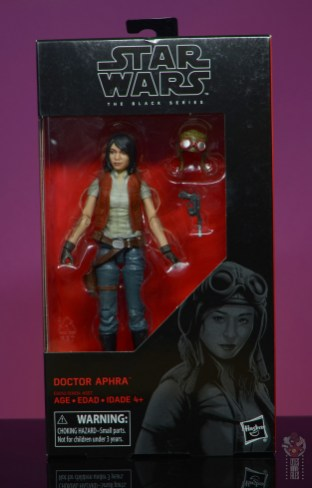 star wars the black series doctor aphra figure review - package front