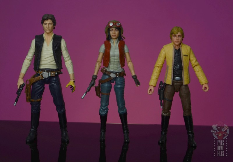 star wars the black series doctor aphra figure review - scale with han solo and luke skywalker