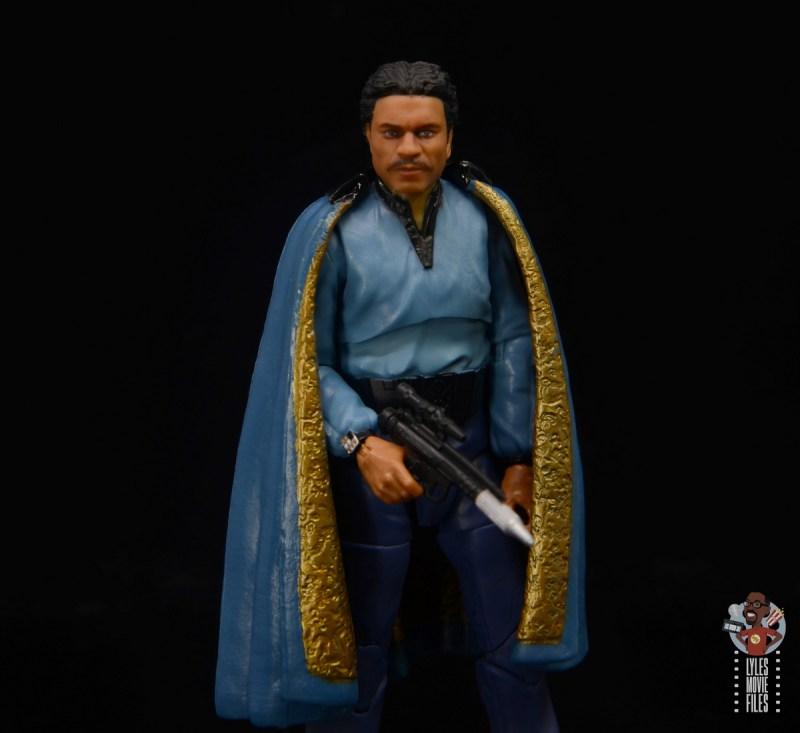 star wars the black series lando calrissian empire strikes back figure review -cape holding blaster