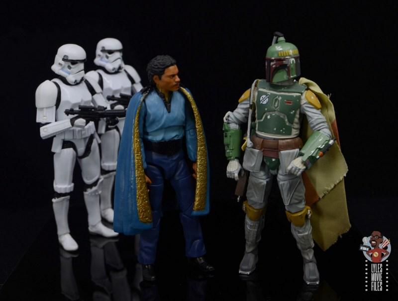 star wars the black series lando calrissian empire strikes back figure review - with boba fett