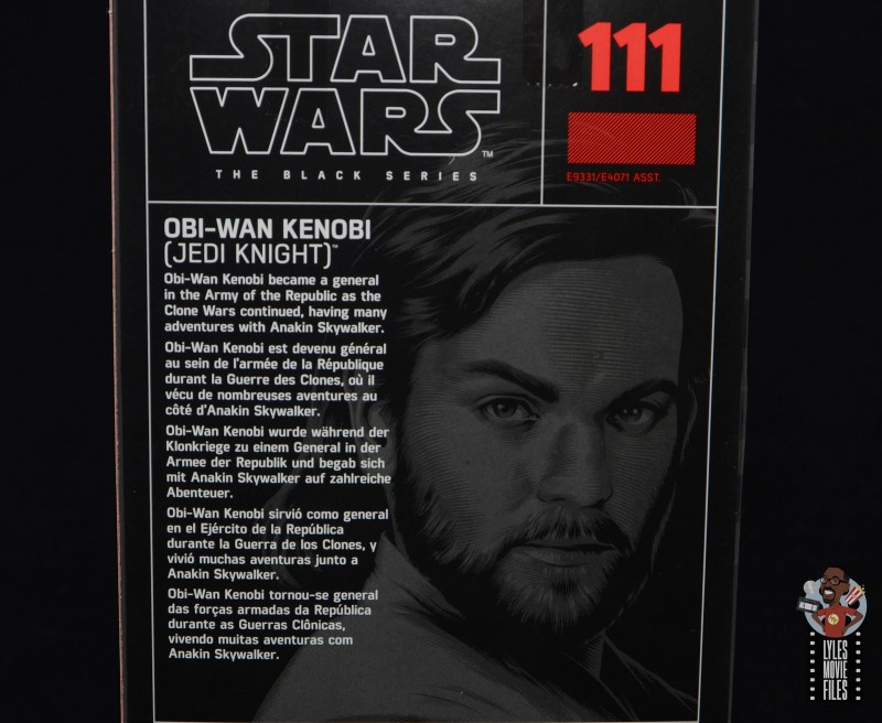 star wars the black series obi-wan kenobi figure review - package bio