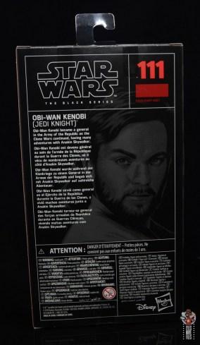 star wars the black series obi-wan kenobi figure review -package rear