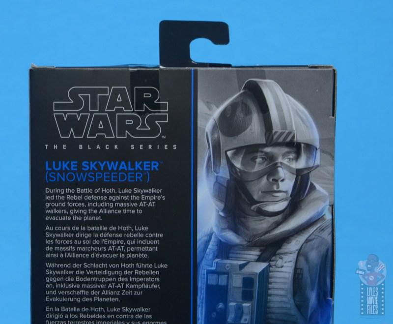 star wars the black series snowspeeder luke skywalker figure review -package bio