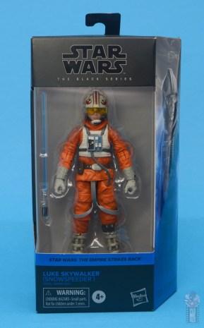 star wars the black series snowspeeder luke skywalker figure review -package front