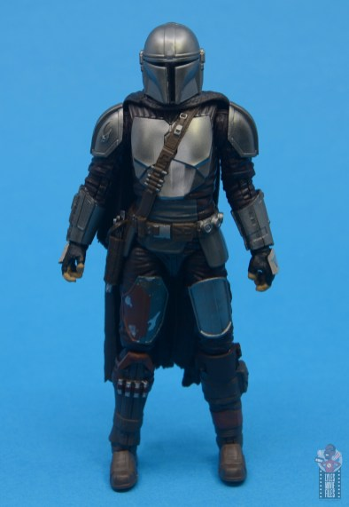 star wars the black series the mandalorian beskar armor figure review - front