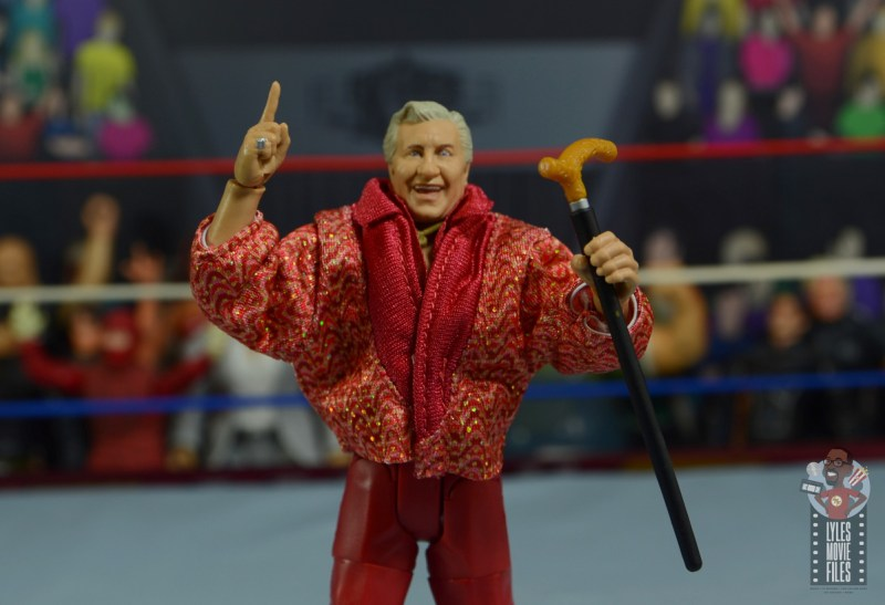 wwe elite classy freddie blassie figure review - ring and cane detail