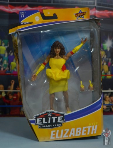 wwe elite series 77 miss elizabeth figure review - package front