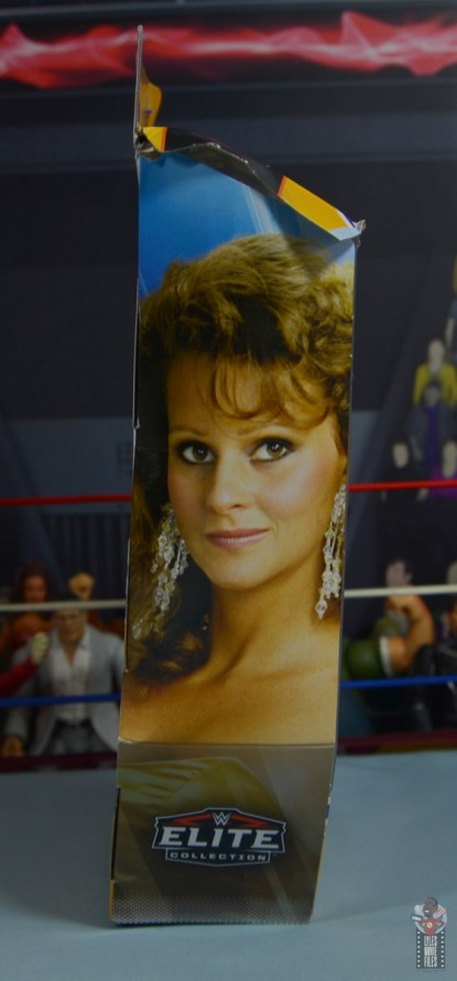 wwe elite series 77 miss elizabeth figure review - package left side