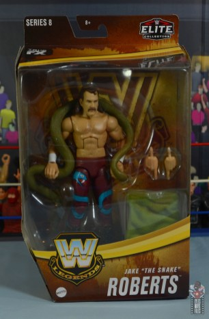 wwe legends 8 jake the snake roberts figure review - package front