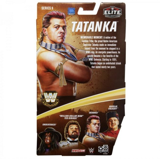 wwe legends 9 tatanka package rear