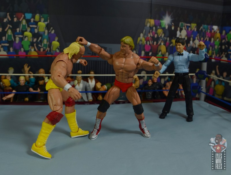 wwe legends series 8 paul orndorff figure review - punching hulk hogan