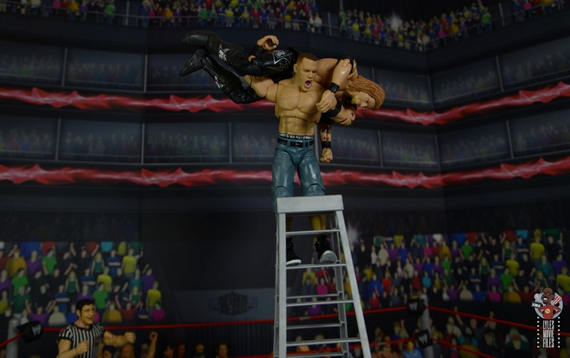 wwe ultimate edition john cena figure review - attitude adjustment to edge off ladder