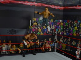 wwe ultimate edition john cena figure review - flying legdrop onto triple h