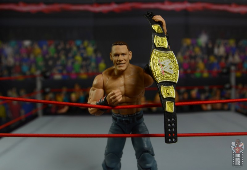 wwe ultimate edition john cena figure review -holding up wwe title