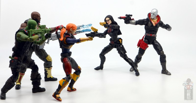 gi joe classified series destro figure review -with baroness vs roadblock, beach head and scarlett