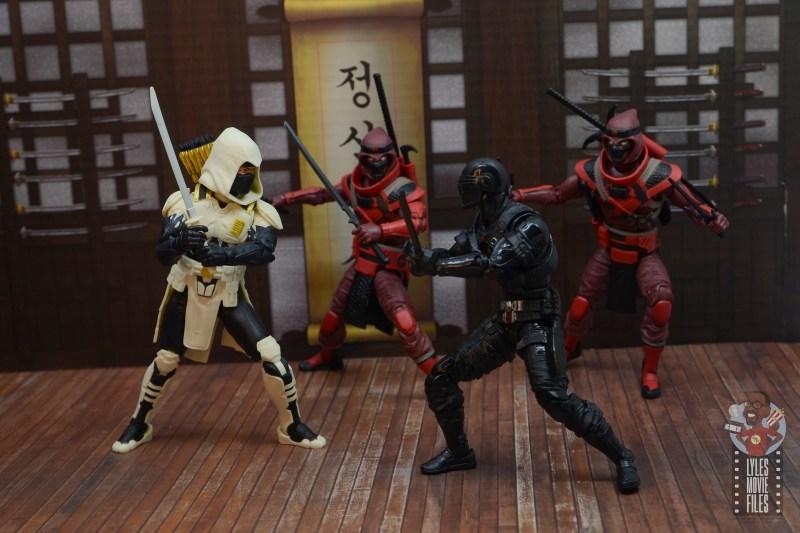gi joe classified series red ninja figure review - helping storm shadow