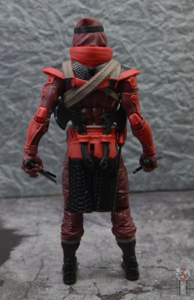 gi joe classified series red ninja figure review - rear