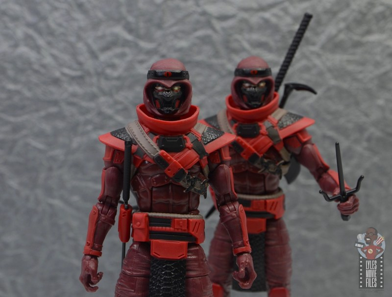 gi joe classified series red ninja figure review - the red ninjas